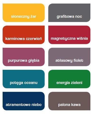 Paleta kolorów Dulux Creations Deep Tones